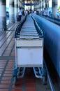 Luggage carts at airport Royalty Free Stock Photo