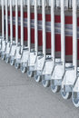 Luggage carts at modern airport Royalty Free Stock Photography