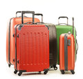 Luggage consisting of large suitcases on white background Royalty Free Stock Photos
