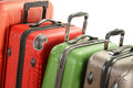 Luggage consisting of large suitcases on white background Stock Image