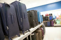 Luggage for sale at a store the image orientation is horizontal and there is copy space Stock Photos