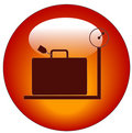 Luggage on scales icon Royalty Free Stock Photos