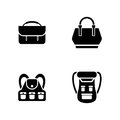 Luggage. Simple Related Vector Icons