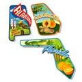 Luggage stickers of Alabama, Georgia, Florida