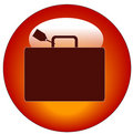 Luggage with tag icon Stock Photography