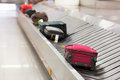 Luggage on the track Royalty Free Stock Photo