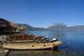 Lugu lake in yunnan china Royalty Free Stock Images