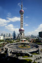 Lujiazu in holidayi,landmark of shanghai Royalty Free Stock Photography