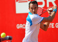 Lukas rosol atp tennis player hits the ball during a match Royalty Free Stock Photo