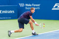 Lukas rosol plays center court at the winston salem open during his set win over jerzey jankowicz Stock Photography