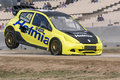 Lukas WALFRIDSSON. Renault Clio. Barcelona FIA World Rallycross Championship Royalty Free Stock Photo