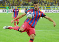 Lukasz szukala of steaua bucharest pictured in action during the romanian supercup between bucharesta and petrolul ploiesti Royalty Free Stock Photo