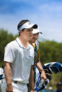 Luke Donald and Caddy - NGC2011 Royalty Free Stock Photos