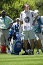 Luke Donald's Caddy Rests - NGC2009 Royalty Free Stock Photo