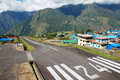 Lukla airport (LUA) Royalty Free Stock Photos