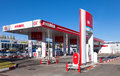 Lukoil gas station in samara russia october on october is s second largest oil company and its second Stock Images