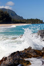 Lumahai beach in Kauai Stock Image