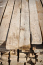 Lumber Material to Build Home in Poor Country Stock Image
