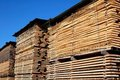 Lumber tiles in a factory Royalty Free Stock Photo