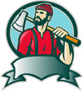 Lumberjack Forester With Axe Royalty Free Stock Images