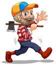 A lumberjack illustration of on white background Royalty Free Stock Photography