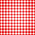 Lumberjack plaid pattern in red and black. Seamless vector pattern. Royalty Free Stock Photo