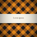 Lumberjack plaid pattern tilted banner on seamless background Stock Photo