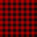 Lumberjack seamless plaid pattern Royalty Free Stock Photo