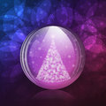Luminescent snow globe a vector illustration of a transparent with a christmas tree includes transparent objects blending modes Stock Photography