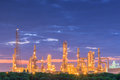 Luminosity of oil refinery plant. Royalty Free Stock Photo