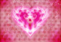 Luminous heart Royalty Free Stock Photos