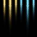 Luminous stellar line gold and blue color on dark background Stock Images