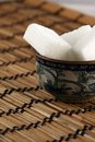 Lump sugar in a bowl with oriental ornament Royalty Free Stock Photography