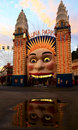 Luna park entrance in Sydney, Australia Royalty Free Stock Image