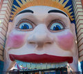 Luna Park Face Royalty Free Stock Photo
