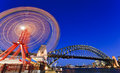 Luna Park Wheel Bridge Stock Image