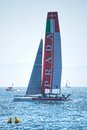 Luna rossa swordfish catamaran during america s cup world series in naples Stock Images