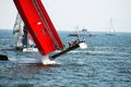 Luna rossa the team in action in the america s cup world series in naples Stock Image