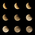 Lunar eclipse series Royalty Free Stock Photo