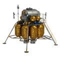 Lunar lander d model of on white background Royalty Free Stock Photos