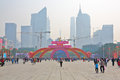 Lunar new year flower fairs the in tianhe district guangzhou of china Stock Photo