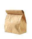 Lunch bag on white background Royalty Free Stock Photos