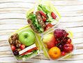 Lunch box for healthy eating Royalty Free Stock Photo