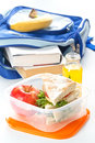 Lunch box with sandwich Royalty Free Stock Images