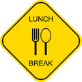 Lunch break - vector sign Royalty Free Stock Photo