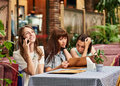 Lunch with girlfriends Royalty Free Stock Photo