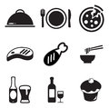 Lunch icons this image is a illustration and can be scaled to any size without loss of resolution Stock Images
