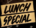 Lunch Special Cafe Royalty Free Stock Photo
