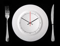 Lunch time concept Royalty Free Stock Photo