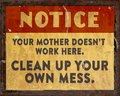 Lunchroom Clean Your Mess Sign